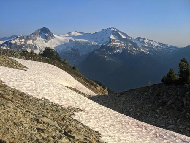 Cheakamus glacier view from near Russet Lake