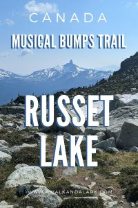 Musical Bumps trail to Russet Lake - Gorgeous hike in Whistler