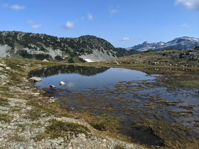 Tarn above Russet Lake