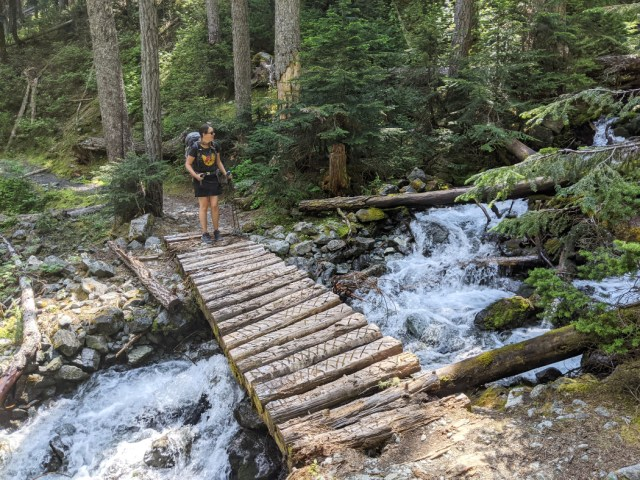 There are quite a few creek crossings - Oboe Creek