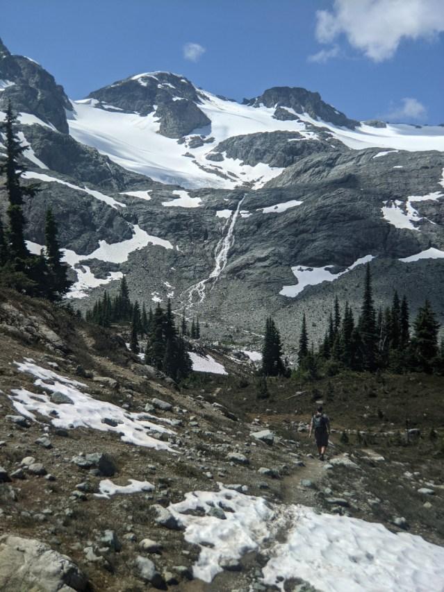 Train Glacier Waterfall