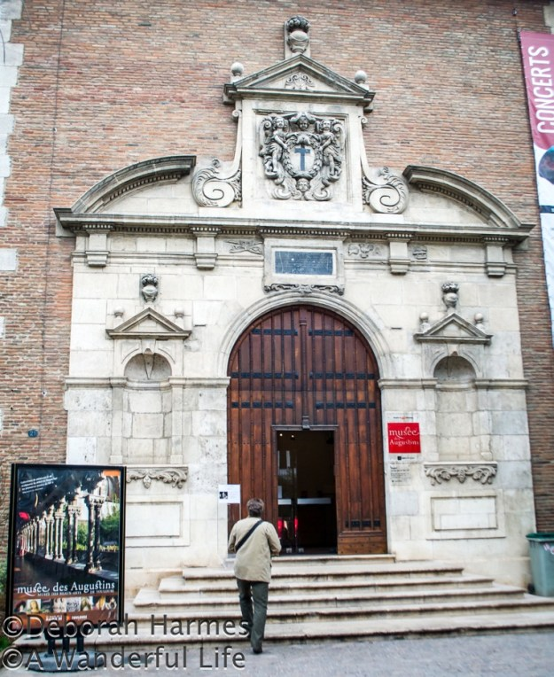 Entry to the Musee Des Augustins, the fine arts museum in Toulouse.