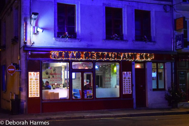 The only place in the village that was busy on a Friday night -- the kebab shop!