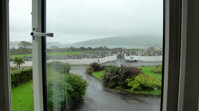 View from our room at the Dunlavin House.