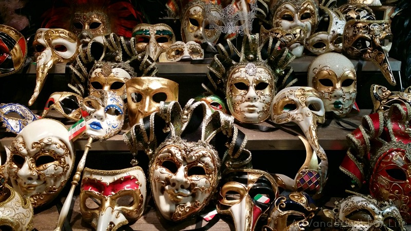 Masks at Amsterdam Christmas Market