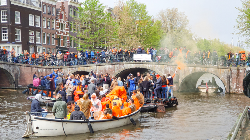 Kings Day in Amsterdam 2019