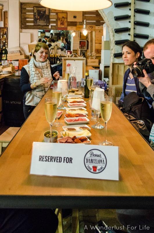 Barcelona Food Tour Table