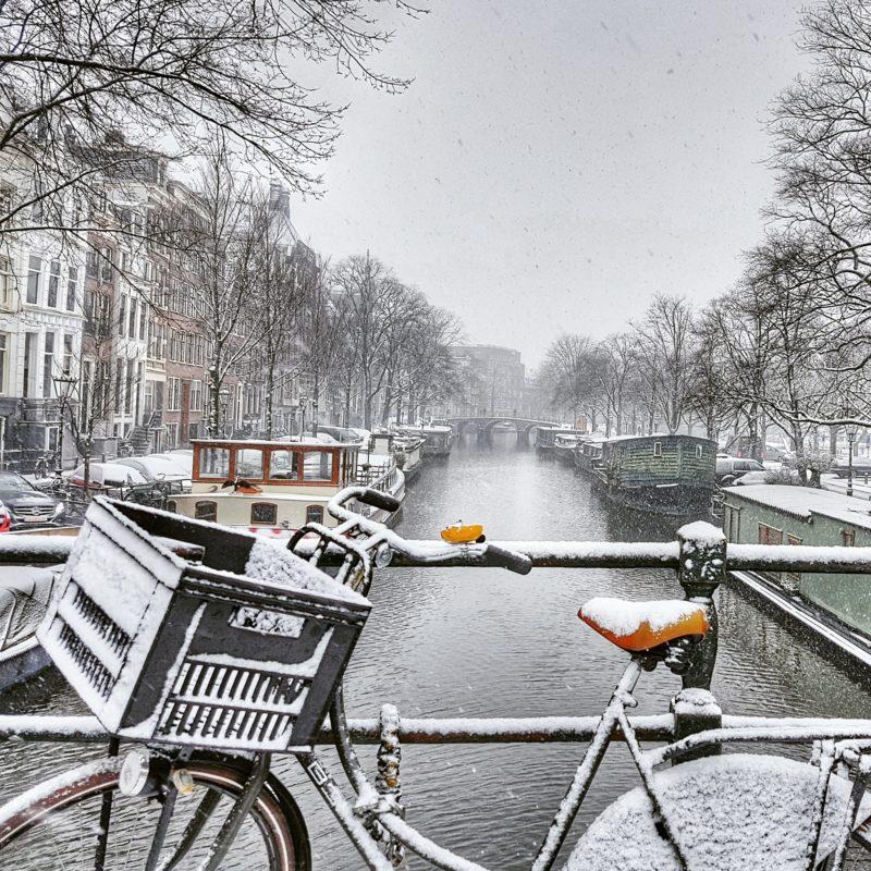 Snow in Amsterdam