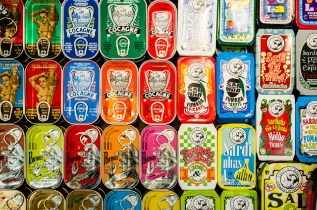 Canned fish at the market in Lisbon