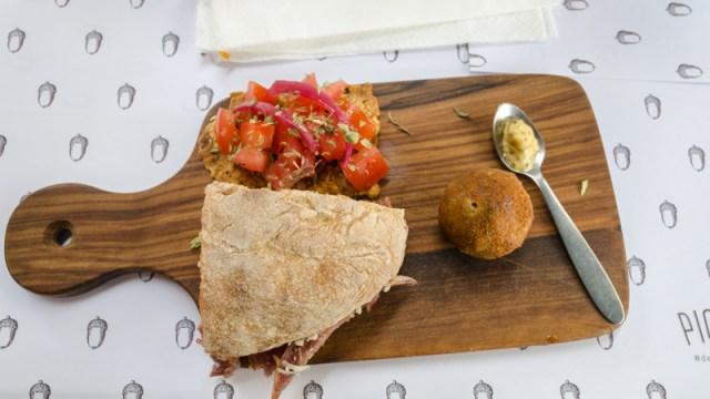 Pork dishes on the Taste of Lisboa Food Tour