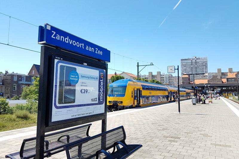 Train from Amsterdam to Zandvoort