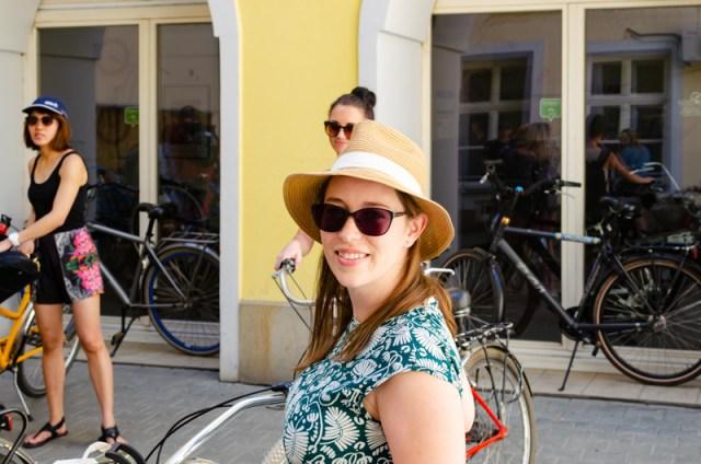 Jessica on Krakow bike tour