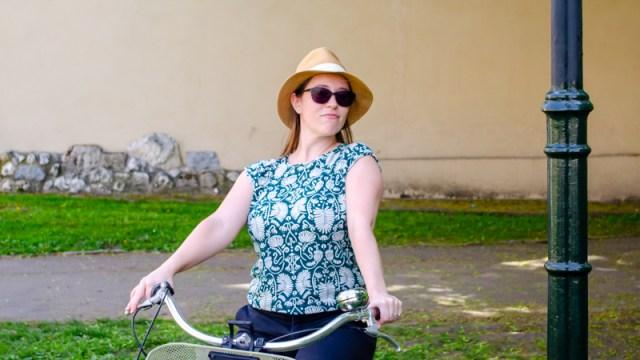 Jess on a bike
