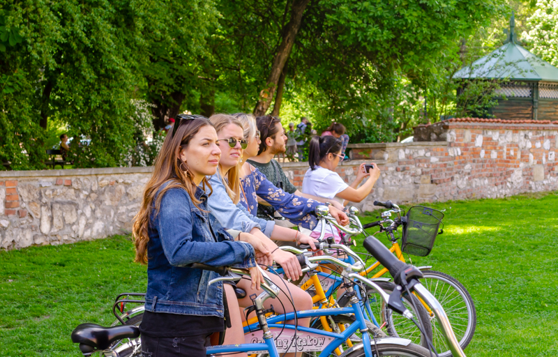 Bike tour of Krakow group