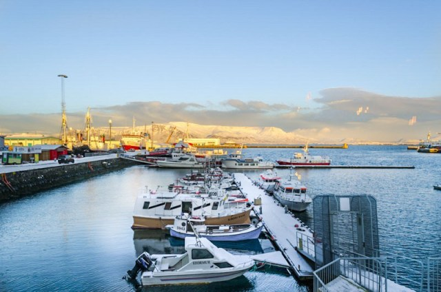 View of the water in Reykjavik