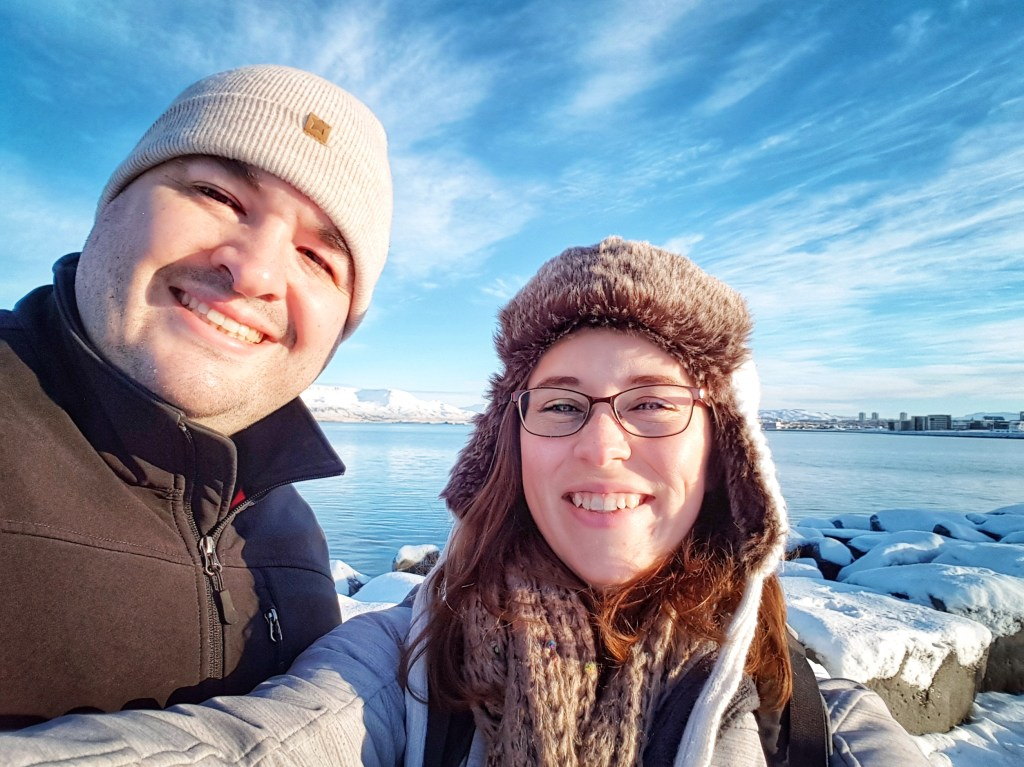 Sean and Jessica selfie Iceland