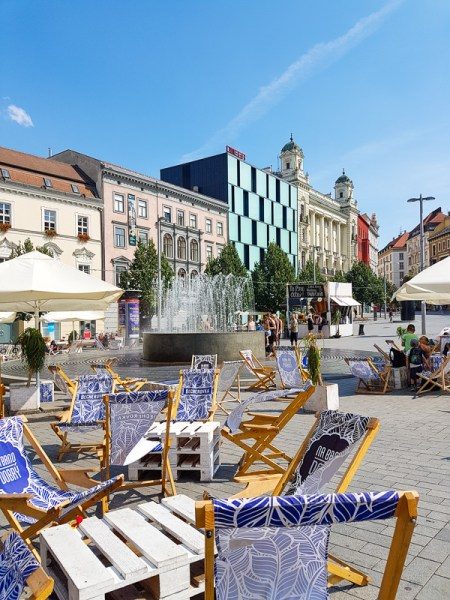 Town square of Brno