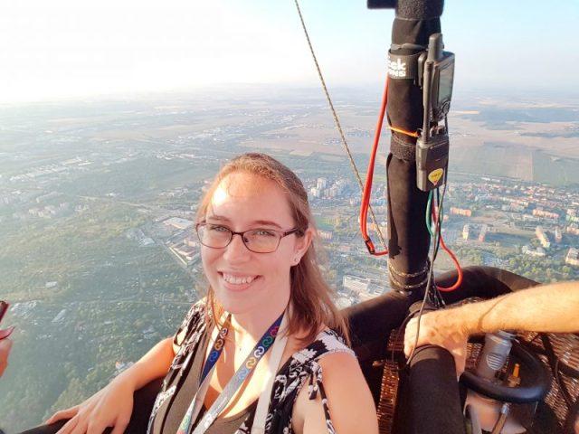 hot air balloon ride over Brno