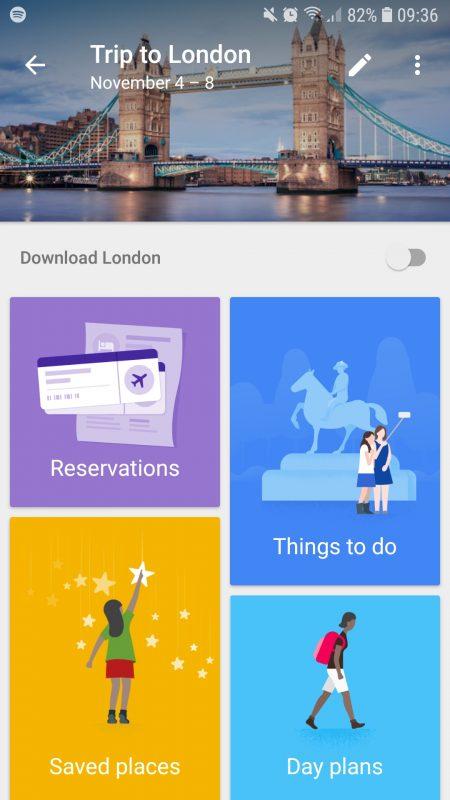 Google Trips Open Trip