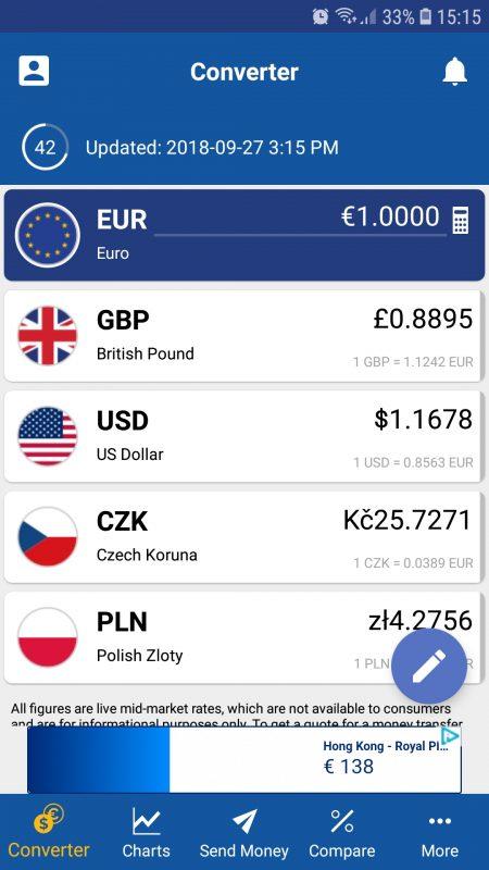 XE currencies