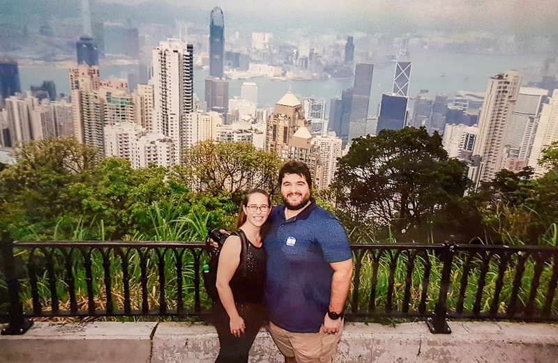 Sean and Jess at the peak