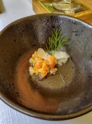 Salmon Ceviche -- Restaraunt Art, Krakow