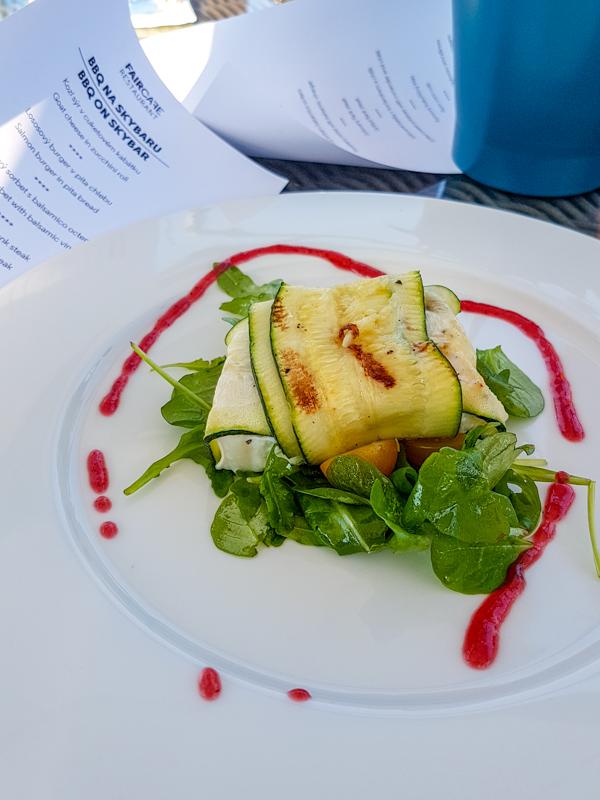 Goat Cheese in Zucchini Roll -- FAIRCAFE Resturant, Bron, Czech Republic
