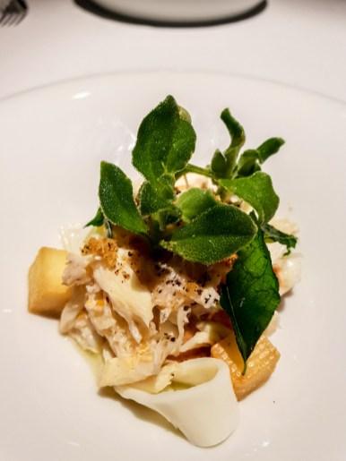 Local Wild Caught Crab, Sustenir Farm Strawberry, signature chili ice cream, egg whites & salted mackerel -- Labyrinth, Singapore