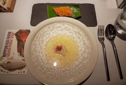 Nippon Koi Fam Silver Perch Otah Rempah, All-spice leaf, kaffir lime oi -- Labyrinth, Singapore