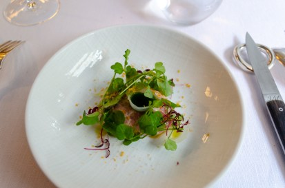 Veal tartare with onion and watercress - Agape, Paris