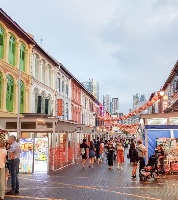 Street in Chinatown Singapore