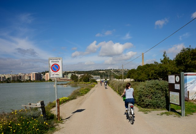 Cycling through Cagliari
