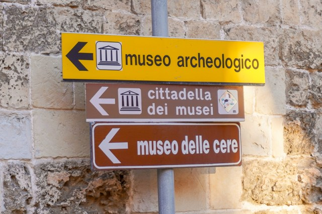 Sign for museum