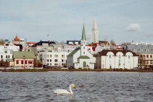 Reykjavik on a sunny day