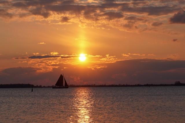 sunset in Marken