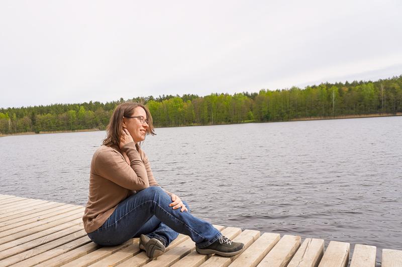 Jessica lakeside in Vilnius