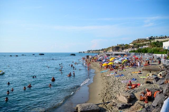 public beach on Ischia