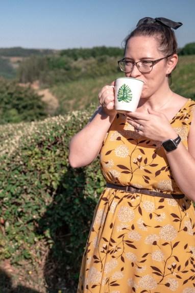 Jessica with tea