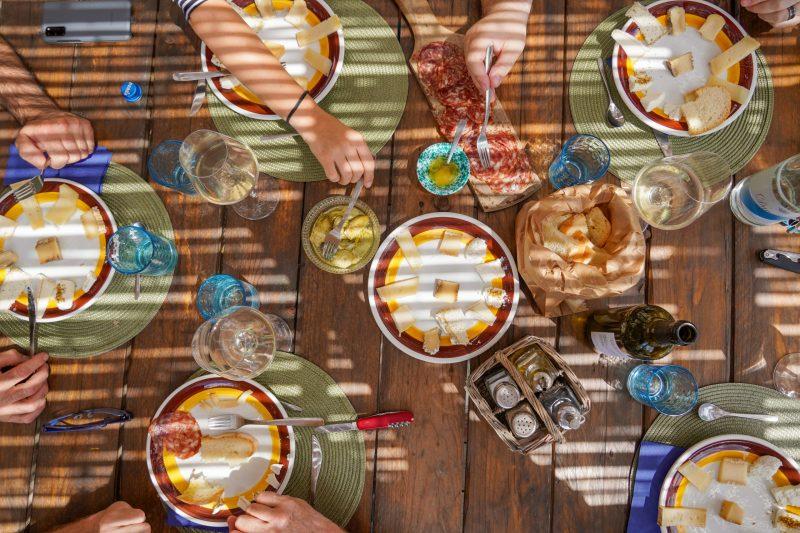 Table at Fattoria le Caprine