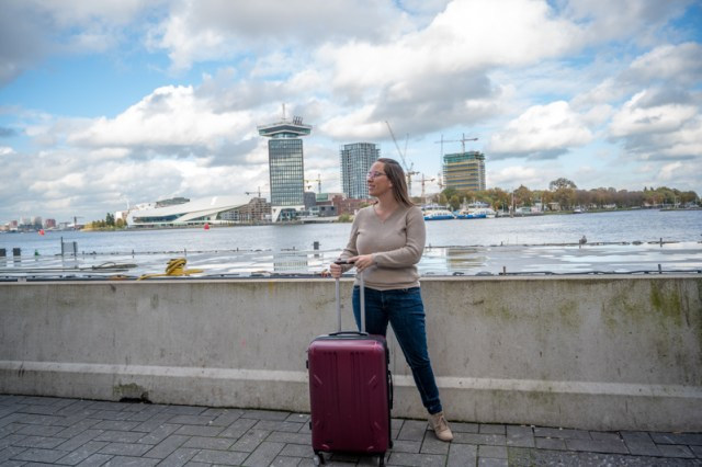 Amsterdam centraal with bag