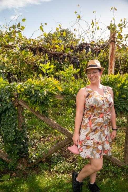 Jessica in winery