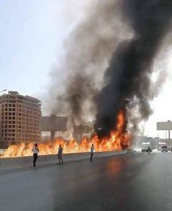 حريق الدائري