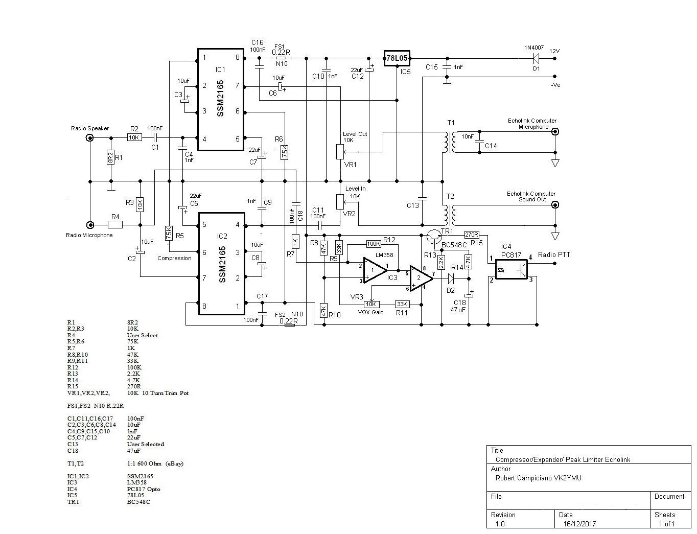 Radio To Computer Interface Audio Conditioning Project Albury Wodonga Amateur Radio Club