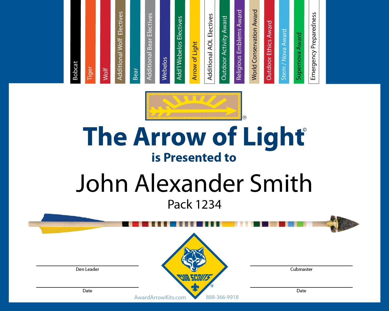 Webelos Arrow Of Light Kits