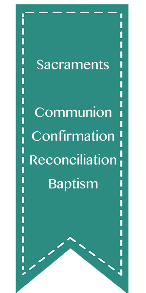 Sacraments - Communion, Confirmation, Reconciliation, Baptism