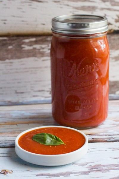 Homemade Basil Marinara Sauce
