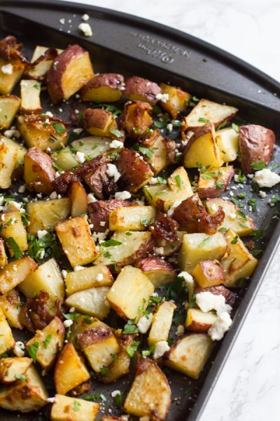 Sheet Pan Roasted Mediterranean Potatoes