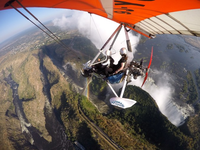 Flying over Victoria Falls in a microlight // Zambia