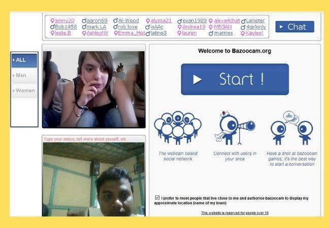 Bazoocam.com website similar to freechatnow