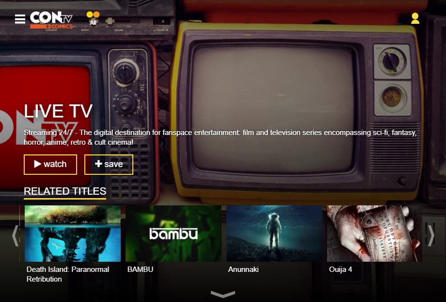 ConTV streams live TV channels like Fmovies